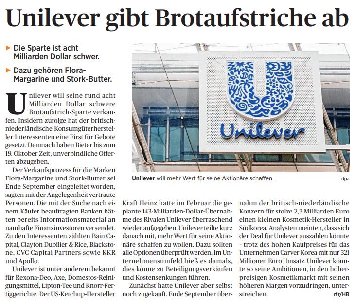 Unilever gibt Brotaufstricher ab.PNG